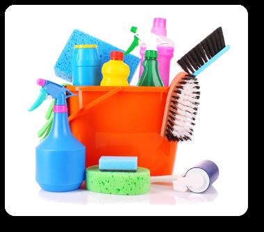 städmaterial ingår när det städas rent